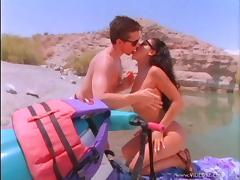 Latina Brunette In Glasses Enjoys Beach Sex Hardcore