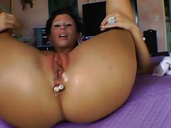 Impatient Brooklyn Lee gets wild anal toying herself in a solo scene