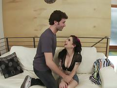 James Deen slams a punker chick in the ass and cums in her mouth