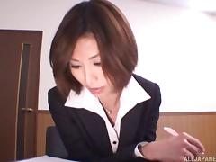 In the boardroom Akira Ashahina gets plowed by her boss
