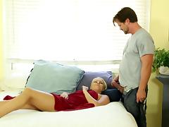 Romantic hubby prelude his romance with a steamy massage before running his rod deep the already wet pussy