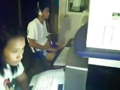 Crazy asian guy masturbates in a cybercafг©. like a boss !!!