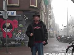 White guy pays so he can fuck a sexy black hooker in Amsterdam