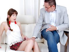 TrickyOldTeacher - Redhead cutie has been dreaming about being seduced and fucked by old math teacher