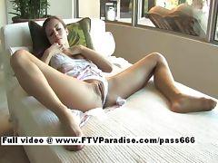 Tamara stunning sexy brunette babe toying pussy