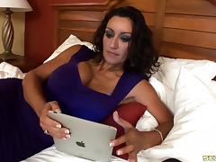 Good looking mature woman Persia Monir fucks a hung black guy