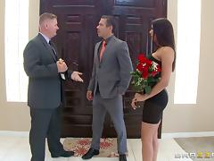 The hot wife fucks a businessman to get a good deal on a house