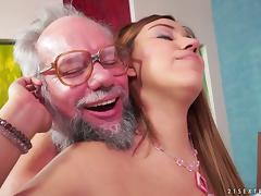 Karla finally lets her experienced neighbor to penetrate her depths