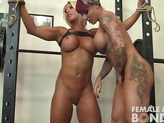 Megan Avalon and Dani Andrews Gym Lesbians