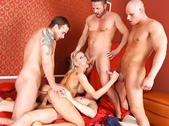 Victoria Red,David Perry,Georgio Black,Thomas Lee,Leny Ewil in Hose Monster #07, Scene #02