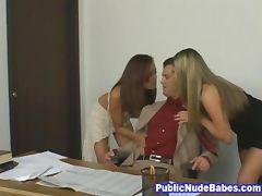 Wild Classroom Threesome Sex