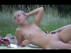 Nude Beach - Hot Little Tits Blond college girl college girl   Spreads
