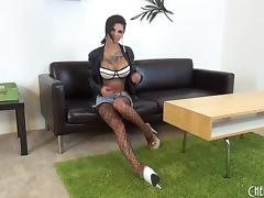 Bonnie is a wild girl whose shaved pussy is always on fire