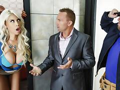 Bridgette B & Xander Corvus in Stuck In The Elevator - Brazzers