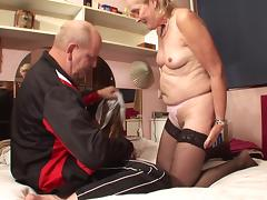 Granny and her senior hubby have great sex for a porn