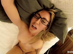 Busty blonde Brett Rossi's home video masturbation