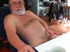 Grandpa cum on cam 4