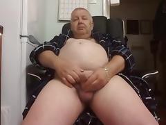 Grandpa cum on cam 7