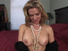 Cougar with fake tits loves when hardcore throbbing is perfected