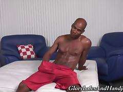 African guys lets the blonde dude have fun with his sausage