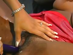 Eager Black Whore Grinds On Strap-on Dong