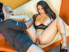 Noelle Easton perfect butt fucked by a huge cock