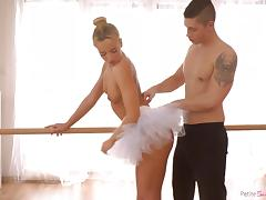 petite ballerina with round ass gets fucked hard