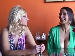 Rachel Love in a fantastic threesome with two bombshells