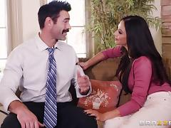 Ariella Ferrera cannot resist bouncing on a handsome hunk's penis