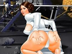 Star Wars cartoon parody sex