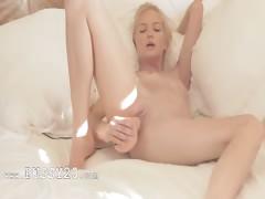 Charming blonde pornstar in art movie