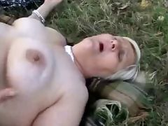 Amateur old lesbians having fun outdoor Great