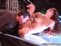 MILF slut takes unknown big cock in her