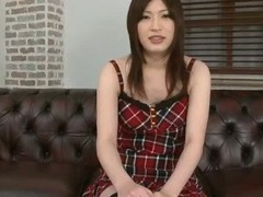 Makeup brush is used to tease sweet Rikos tits