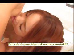 Japanese AV girl gets her hot pussy licked
