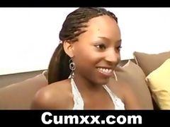 Ghetto Teen Babe Pounded With White Mamba