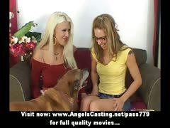 Wonderful stunning lovely blonde lesbians undressing