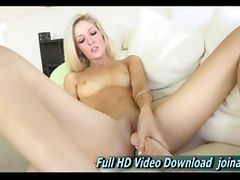 Emily sexy blonde babe she masturbates