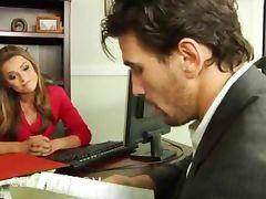 Office hottie Tori Black boned in stockings office hardcore