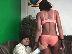 Sexy Afro Slut Stripped And Pussy Eating