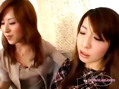 Asian Girl Kissing Getting Her Face Licked Spitted To Mouth On The Couch In The Sitting Roo