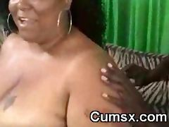 BBW Black Slut Blowing Black Dick