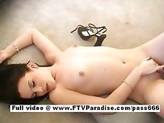 Carmela amazing naked brunette slut on the floor