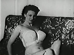 Gentle Girl Undressing and Posing 1950