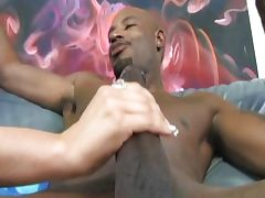 Shaved cutie drilled by black cock