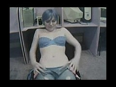 Blue Haired Webcam Hotness