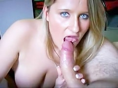 More dick than she can handle Sexy and mature blonde is all smiles when stripping for the camera in