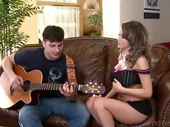 Beautiful Anthony Rosano fucks her guitar instructor