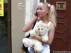 Cute Blondie With Pigtails Fucked By Her Dirty Old Teacher