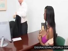 disgraced busty ebony bombshell blowjob